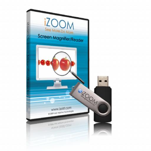 iZoom USB v5 - Screen Magnifier & Reader