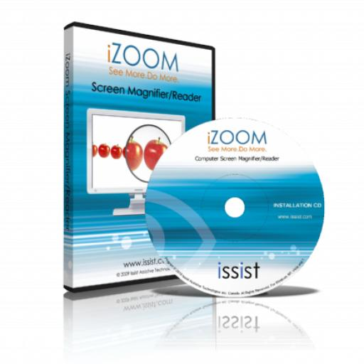iZoom DVD v5 - Screen Magnifier & Reader